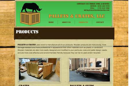 Screenshot of Products Page palletsandcrates.com - Producgts - captured Oct. 5, 2016