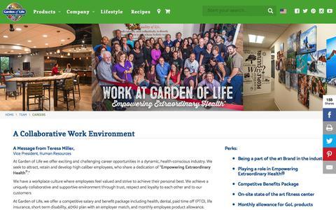 A Collaborative Work Environment   Garden of Life