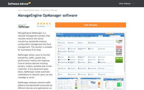 ManageEngine OpManager Software - 2018 Reviews