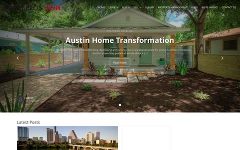 Screenshot of Blog realtyprosaustin.com - Austin Real Estate Blog - Realty Pros Austin - captured Feb. 14, 2016