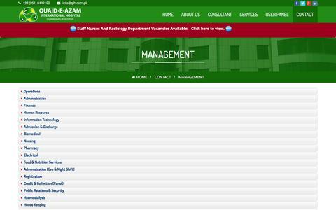 Screenshot of Team Page qih.com.pk - Quaid-e-Azam International Hospital - Management - captured Nov. 6, 2016
