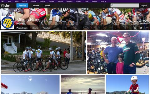 Screenshot of Flickr Page flickr.com - Flickr: Mike's Bikes' Photostream - captured Oct. 29, 2014