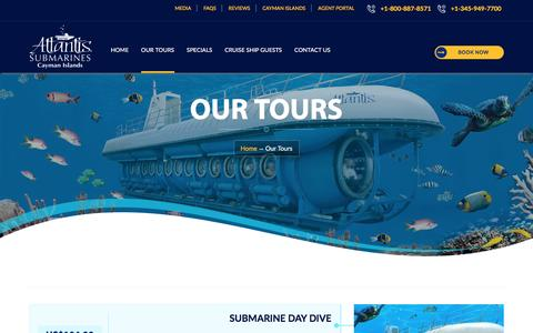 Cayman Tour, Submarine Day Dive, Submarine Night Dive, Seaworld Day Tour, Cruise to Cayman Islands