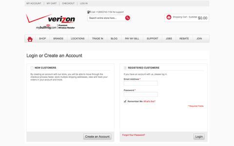 Screenshot of Login Page mybullfrog.com - Customer Login - captured Oct. 9, 2014