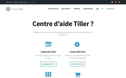 Screenshot of FAQ Page Support Page tillersystems.com - Support Tiller - Caisse Enregistreuse Tactile sur iPad - captured Sept. 21, 2018