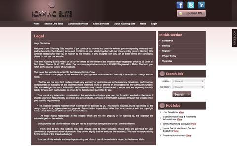 Screenshot of Terms Page igamingelite.com - iGaming Elite - captured Sept. 30, 2014