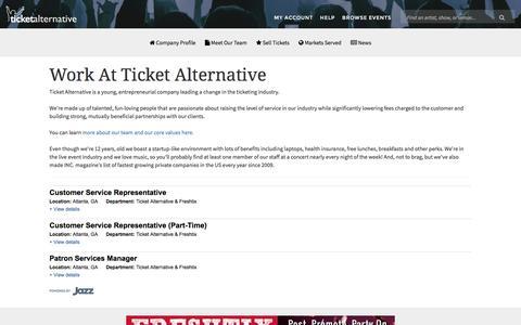 Ticket Alternative Careers and Jobs