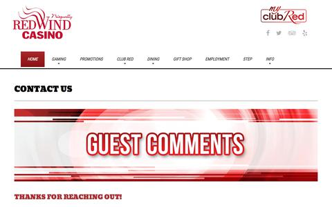 Screenshot of Contact Page redwindcasino.com - Contact Us | Nisqually Red Wind Casino - captured June 14, 2018