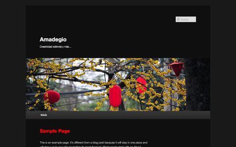 Screenshot of Home Page amadegio.com - Amadegio | Creatividad editorial y más… - captured Sept. 30, 2014