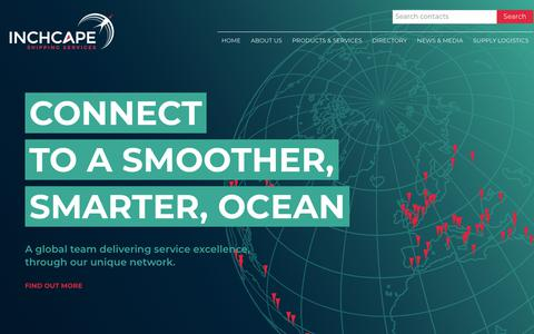 Screenshot of Home Page iss-shipping.com - Inchcape Shipping Services - A Smoother, Smarter, Ocean - captured Nov. 12, 2018
