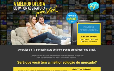 Screenshot of Home Page futurotv.com.br - Num único contato receba as melhores ofertas de TV por assinatura! - captured Sept. 24, 2014