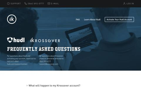 Screenshot of FAQ Page krossover.com - Frequently Asked Questions | Krossover - captured May 17, 2019