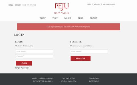Screenshot of Login Page peju.com - Peju - Login - captured Dec. 11, 2019