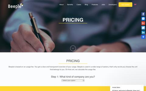 Screenshot of Pricing Page beeple.eu - Inside Sales says… - captured July 11, 2018