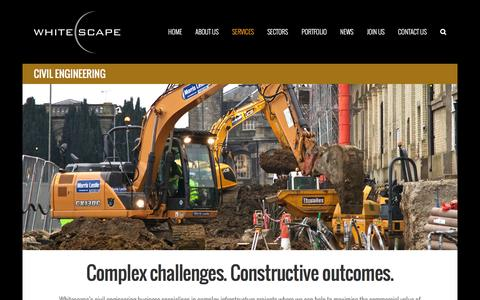 Screenshot of Services Page whitescape.co.uk - Whitescape Construction - Civil Engineering - captured Dec. 20, 2016