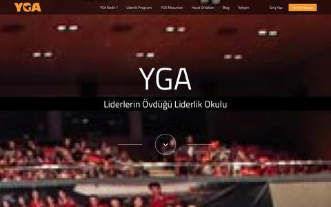 Screenshot of Blog yga.org.tr - YGA - Liderlerin Övdüğü Liderlik Okulu - captured Oct. 3, 2014