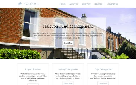 Screenshot of Home Page hfm.ie - Halcyon | Fund Management - captured Oct. 1, 2014