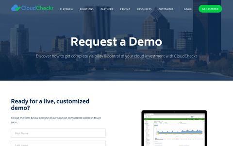 Demo - CloudCheckr