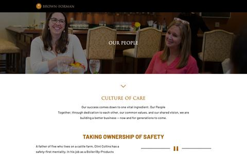 Screenshot of Team Page brown-forman.com - Our People - Brown-Forman - captured June 12, 2019