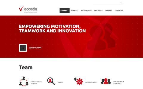 Screenshot of Team Page accedia.com - Team | Accedia - captured Oct. 7, 2017
