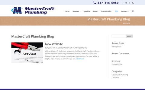 Screenshot of Blog mastercraftplumbing.com - Blog - MasterCraft Plumbing - captured Oct. 29, 2014
