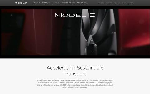 Screenshot of teslamotors.com - Model 3 | Tesla Motors - captured April 2, 2016