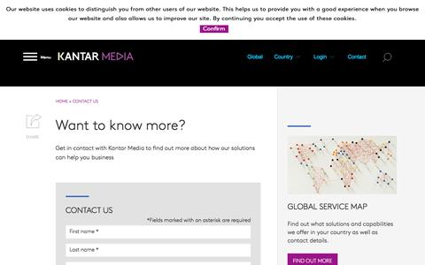 Screenshot of Jobs Page kantarmedia.com - Contact Us | Kantar Media - captured Nov. 2, 2016