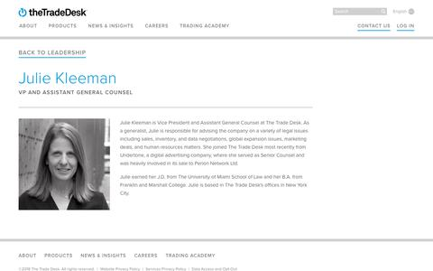 Screenshot of Team Page thetradedesk.com - Julie Kleeman | The Trade Desk - captured June 22, 2018