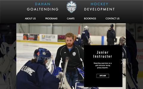 Screenshot of Jobs Page dahanhockey.ca - Brampton's Elite Goalie School - Dahan Goaltending | Join The Team - captured Oct. 7, 2018