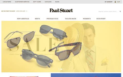 Screenshot of Home Page paulstuart.com - Paul Stuart - Fine Men's & Women's clothing - captured June 17, 2015