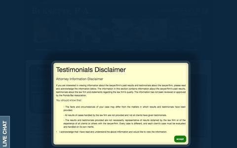 Screenshot of Testimonials Page burnetti.com captured Oct. 5, 2014