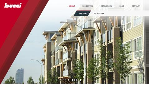 Screenshot of About Page bucci.com - Overview | Bucci Developments - captured Feb. 8, 2016