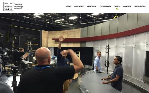 Screenshot of Press Page ddgtv.com - Devlin Design Group | News - Devlin Design Group - captured Feb. 9, 2016