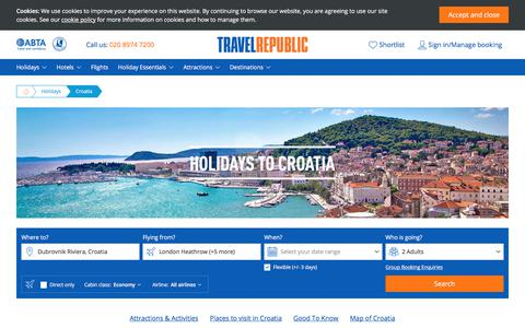 Cheap Holidays to Croatia 2017/2018 | Travel Republic
