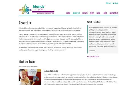 Screenshot of About Page friendsandgems.com - Friends & Gems - About Us - captured Aug. 4, 2016