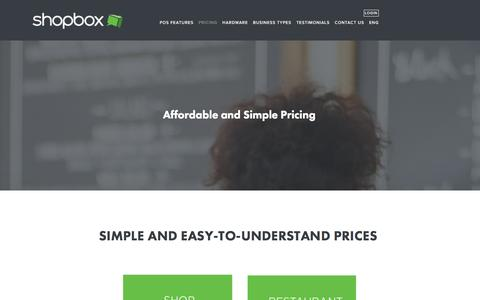 Screenshot of Pricing Page shopbox.com - Join the Shopbox Family Ń Shopbox POS: Restaurant Point of Sale System|Free Trial - captured Dec. 21, 2015