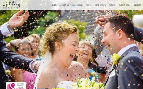 Screenshot of Home Page goldingphotography.co.uk - Wedding Photography Derbyshire, Cheshire, Yorkshire and the UK - Golding Photography - captured Jan. 24, 2015