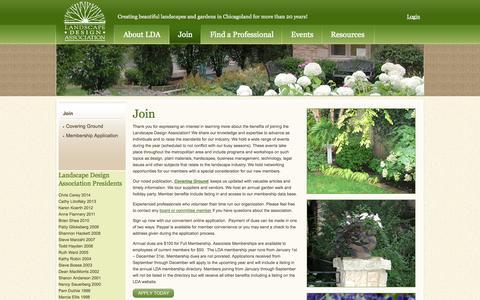 Screenshot of Signup Page ldaonline.org - Landscape Design Association - captured Oct. 1, 2014