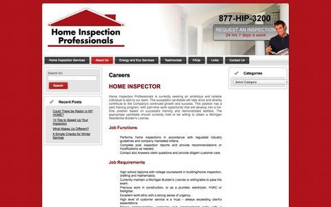 Screenshot of Jobs Page homeinspectionprofessionals.com - Careers   Home Inspection Professionals - captured Sept. 30, 2014