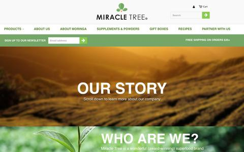 Screenshot of About Page miracletree.co - About Us                           | Miracle Tree - captured June 26, 2016