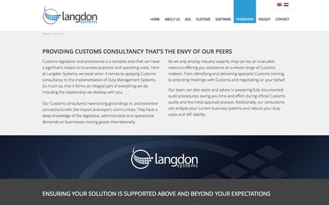 Screenshot of Support Page langdonsystems.nl - Customs Consultants | Customs Experts | Langdon Systems - captured Jan. 26, 2016