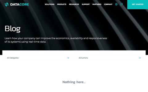 Screenshot of Blog datacore.com - Blog | DataCore - captured April 9, 2018