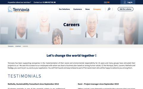Screenshot of Jobs Page tennaxia.com - Careers - Tennaxia - captured Aug. 13, 2016
