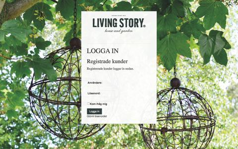 Screenshot of Login Page livingstory.se - Living Story AB - captured Nov. 11, 2016