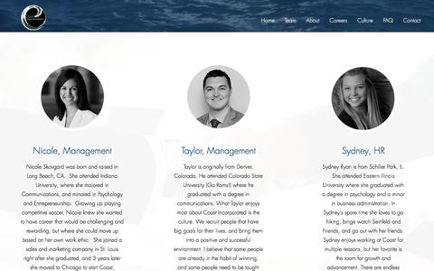 Screenshot of Team Page coastincorporated.com - coast-inc | Team - captured July 19, 2018