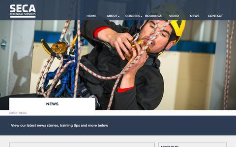 Screenshot of Press Page seca-technicalservices.com - SECA Technical Services   IRATA Rope Access Courses Newcastle Upon Tyne - captured Dec. 18, 2015