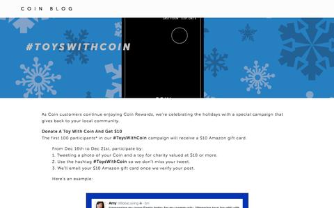 Screenshot of onlycoin.com - #ToysWithCoin — Coin Blog - captured Jan. 29, 2017