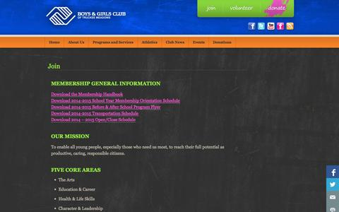 Screenshot of Signup Page bgctm.org - Join «  Boys and Girls Club of Truckee Meadows - captured Oct. 5, 2014