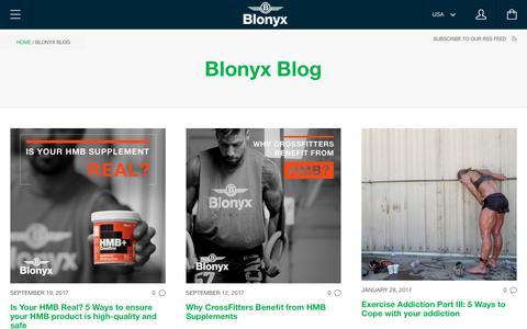 Screenshot of Blog blonyx.com - The Blonyx Blog - captured Oct. 10, 2017