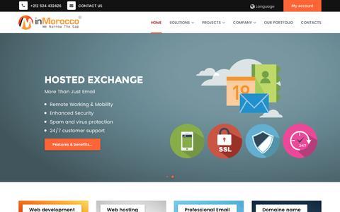Screenshot of Home Page inmorocco.com - INMOROCCO Solutions, web hosting morocco, web development, professional email - captured Nov. 18, 2016